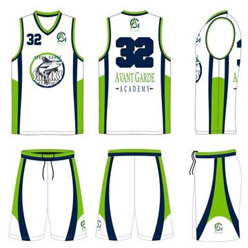Picture of Basketball Kit Style 595 Custom